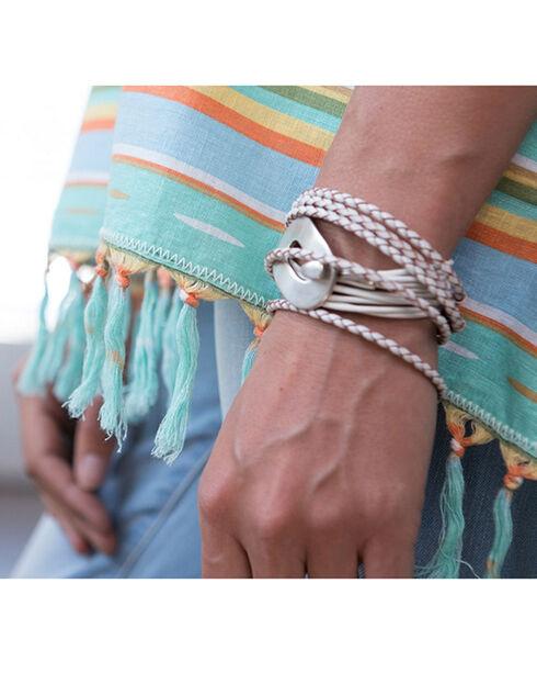 Ryan Michael Women's Serape Poncho, Seafoam, hi-res