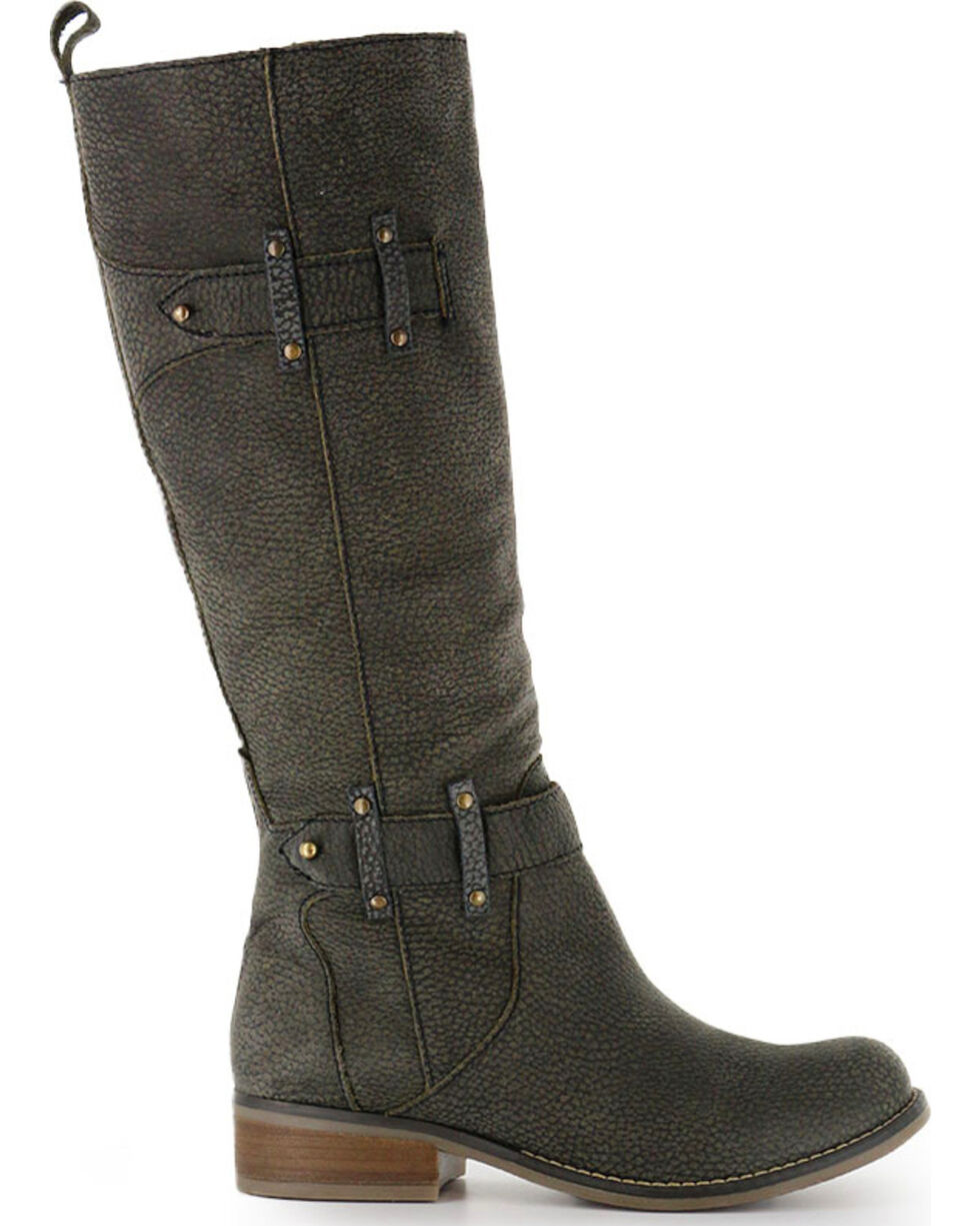 Circle G Women's Tall Top Fashion Boots, Black, hi-res