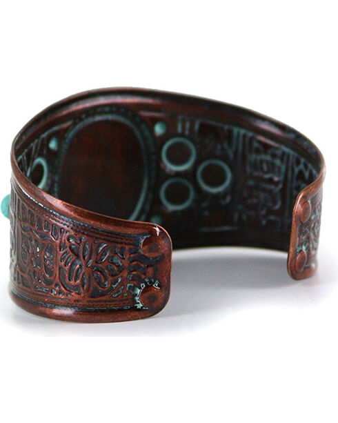 Shyanne Women's Antiqued Turquoise Cuff , Turquoise, hi-res