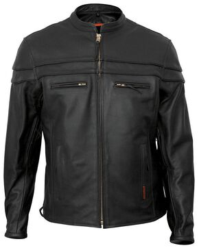 Interstate Leather Scooter Jacket, Black, hi-res