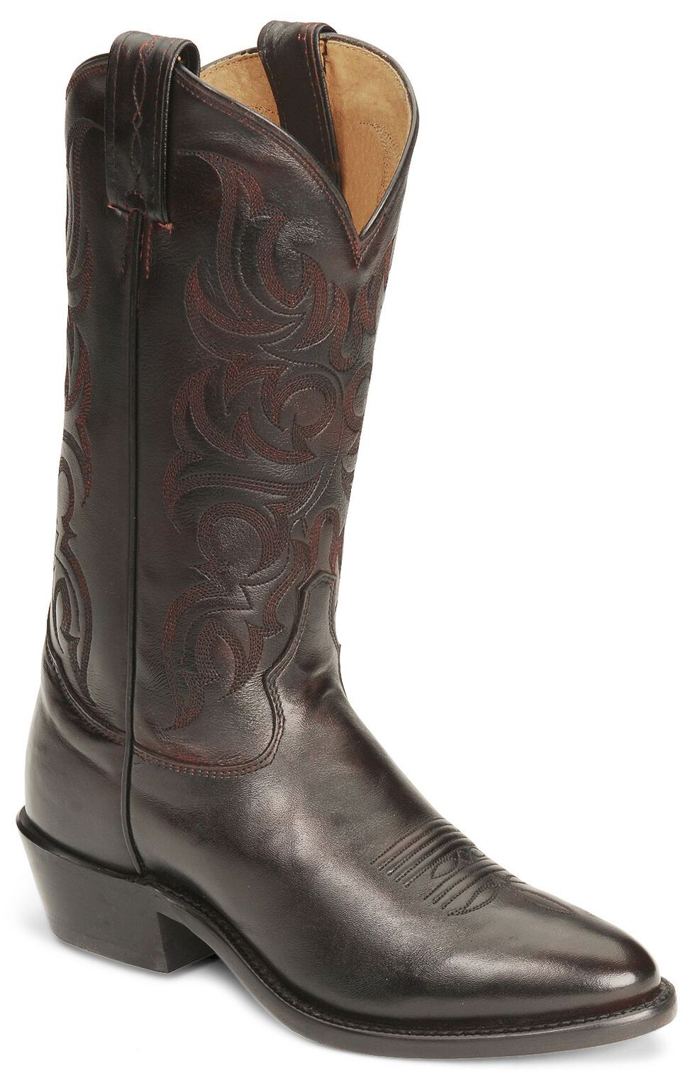 Tony Lama Regal Americana Boots - Medium Toe, Black Cherry, hi-res
