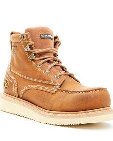 Hawx Men's Brown Wedge Work Boots - Nano Composite Toe, Brown, hi-res