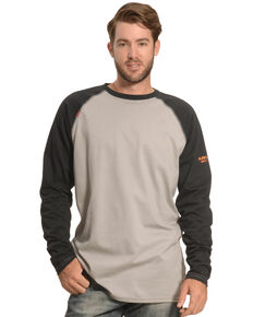 Ariat Men's FR Long Sleeve Baseball Work T-Shirt , Black, hi-res