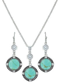 Montana Silversmiths True North Turquoise Jewelry Set , Turquoise, hi-res