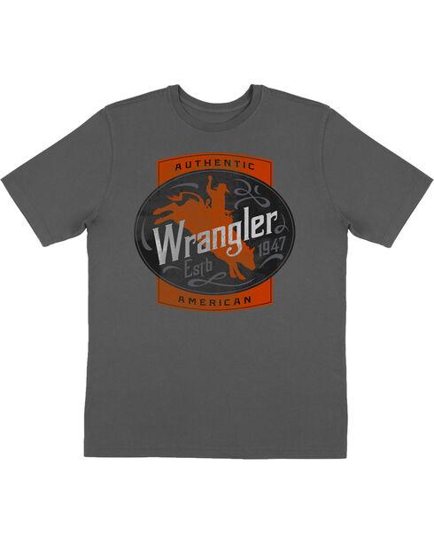 Wrangler Boys' Grey Bullrider Short Sleeve Tee , Grey, hi-res