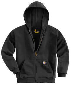 Carhartt Men's Hooded Zip Hoodie - Big & Tall, Black, hi-res