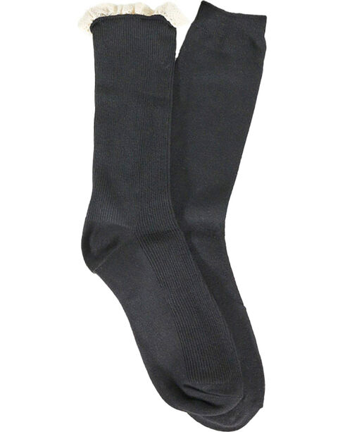 Shyanne Women's Ruffle and Solid Boot Socks, , hi-res