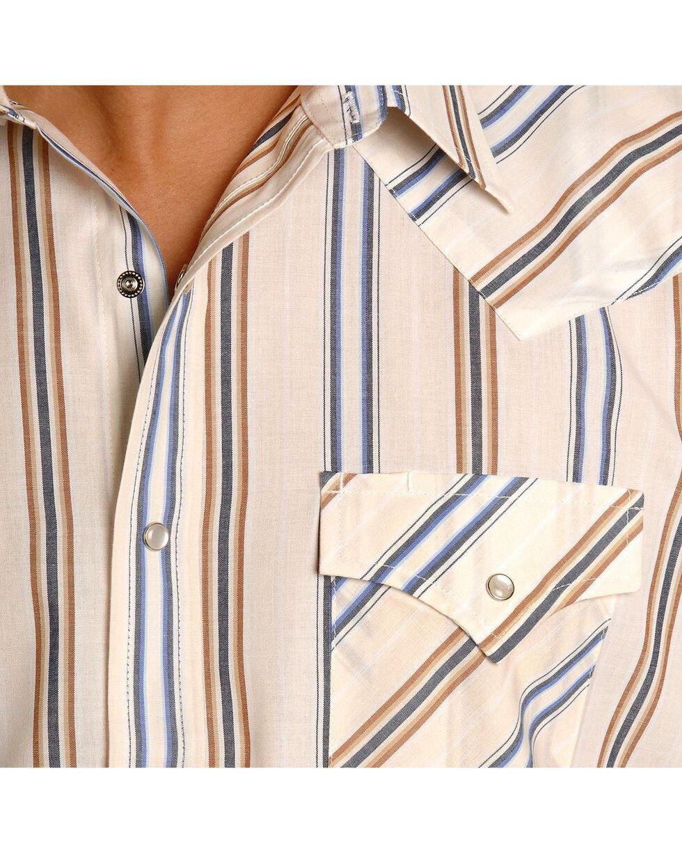 Ely Assorted Plaid or Stripe Long Sleeve Western Shirt, Stripe, hi-res