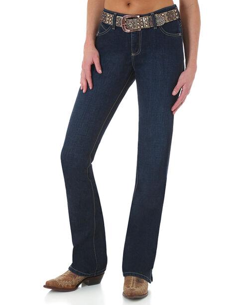 Wrangler Women's Cash Ultimate Riding Jeans - Boot Cut , Blue, hi-res