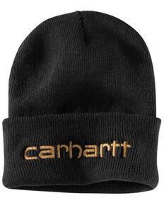 Carhartt Men's Black Teller Beanie, Black, hi-res