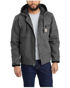 Carhartt Men's Gravel Washed Duck Sherpa Lined Work Jacket - Tall, Grey, hi-res