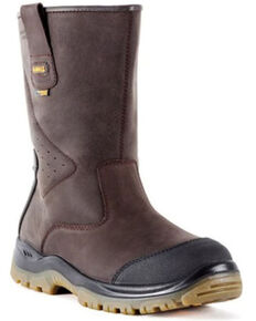 DeWalt Men's Titanium Waterproof Work Boots - Steel Toe, Brown, hi-res