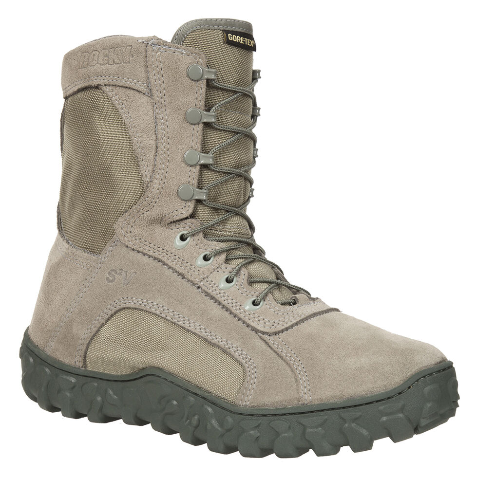 Rocky Men's S2V Soft Toe Vented Military Boots, Sage, hi-res
