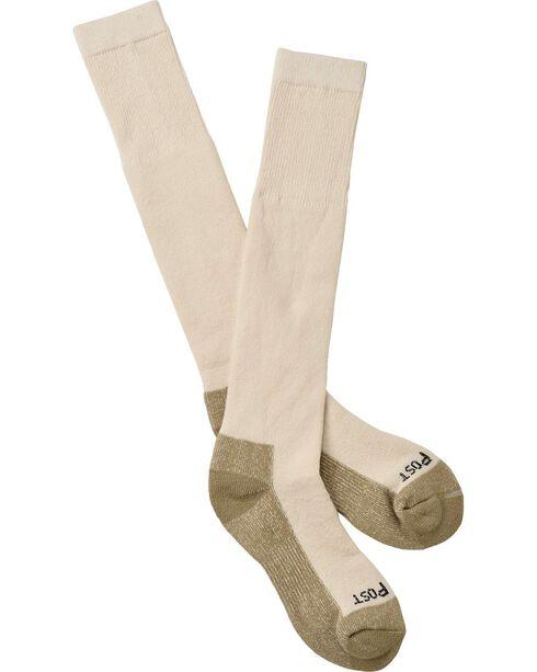 Dan Post Over-the-Calf Medium Weight Performance Socks, Natural, hi-res