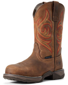 Ariat Women's Anthem Western Work Boots - Composite Toe, Brown, hi-res