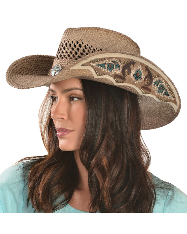 Bullhide From the Heart Straw Cowgirl Hat, Natural, hi-res