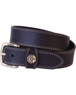 Browning Men's Leather Slug Belt , Black, hi-res