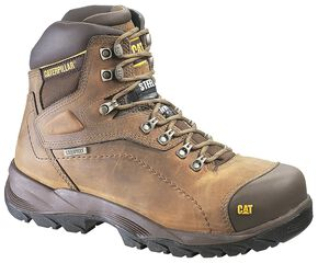 "Caterpillar Diagnostic Waterproof & Insulated 6"" Lace-Up Work Boots - Round Toe, Dark Khaki, hi-res"