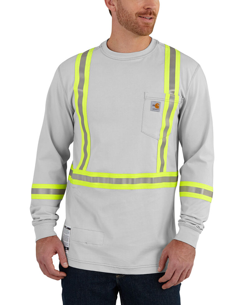 Carhartt Men s Flame Resistant Force High-Viz Long Sleeve Shirt - Big   Tall  b75655c00