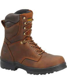 "Carolina Men's 8"" Waterproof Work Boots - Steel Toe, Brown, hi-res"