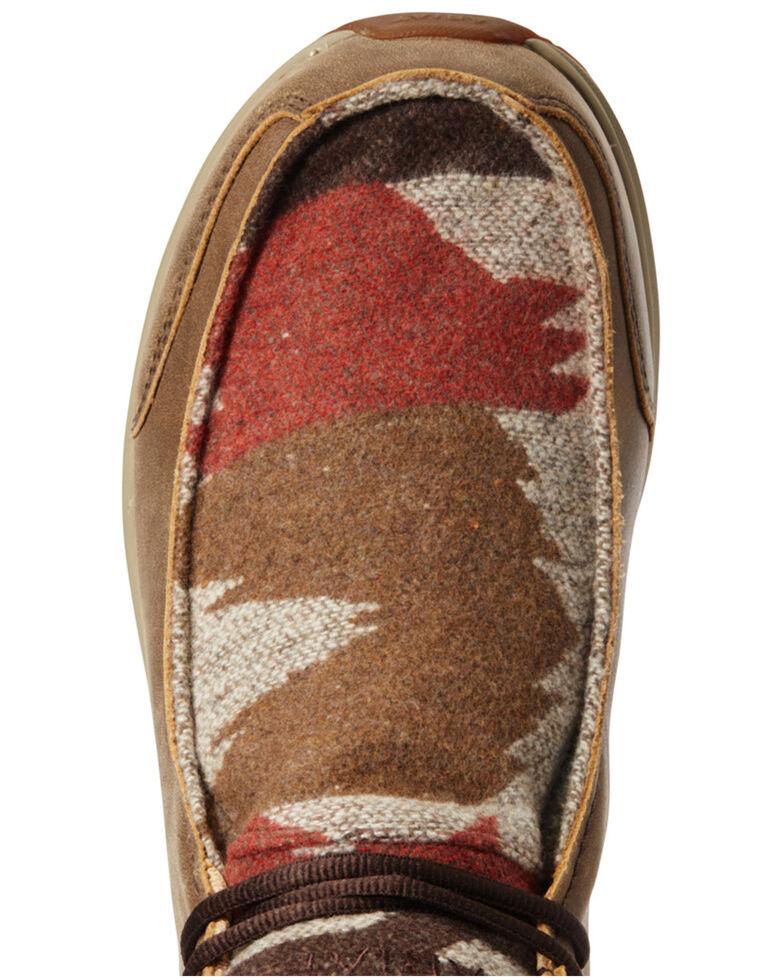 Ariat Men's Brown Spitfire Lace-Up Boots - Moc Toe, Brown, hi-res