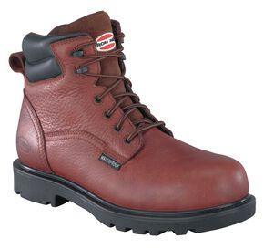 Iron Age Men's Hauler Waterproof Work Boots - Composite Toe, Brown, hi-res
