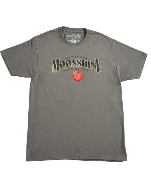 Moonshine Spirit Men's Grey Logo Tee, Charcoal, hi-res