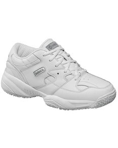 Skidbuster Women's Waterproof Athletic Work Shoes, White, hi-res