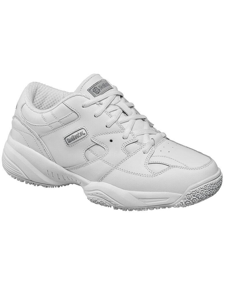 Skidbuster Women's Waterproof Athletic Work Shoes, White, hi-res