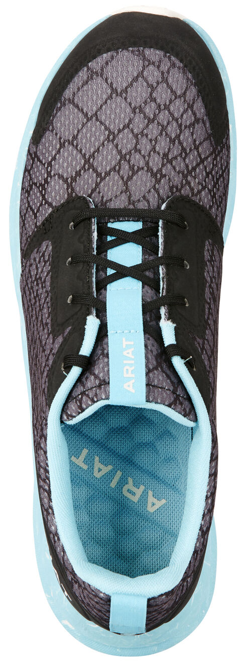 Ariat Women's Grey Fuse Snake Shoes, Charcoal Grey, hi-res