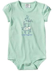 Carhartt Infant Girls' Mint Short Sleeve Onesie , Light Green, hi-res