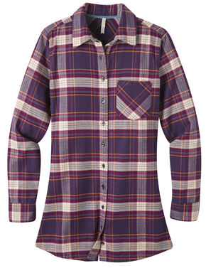 Mountain Khakis Purple Plaid Penny Tunic Shirt , Purple, hi-res