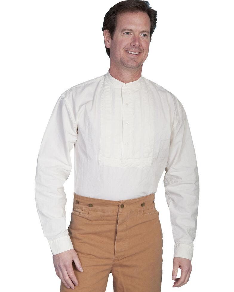 Rangewear by Scully Pleated Inset Bib Shirt - Big & Tall, Ivory, hi-res