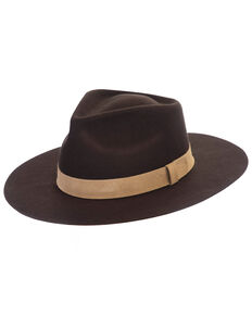 Black Creek Dark Brown Crushable Western Wool Felt Hat , Dark Brown, hi-res