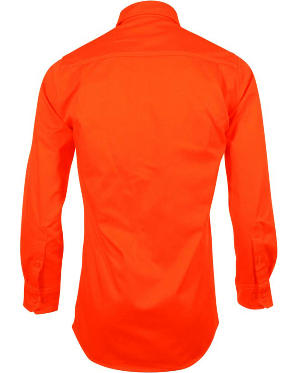 Lapco Men's Long Sleeve Flame Resistant Work Shirt, Orange, hi-res