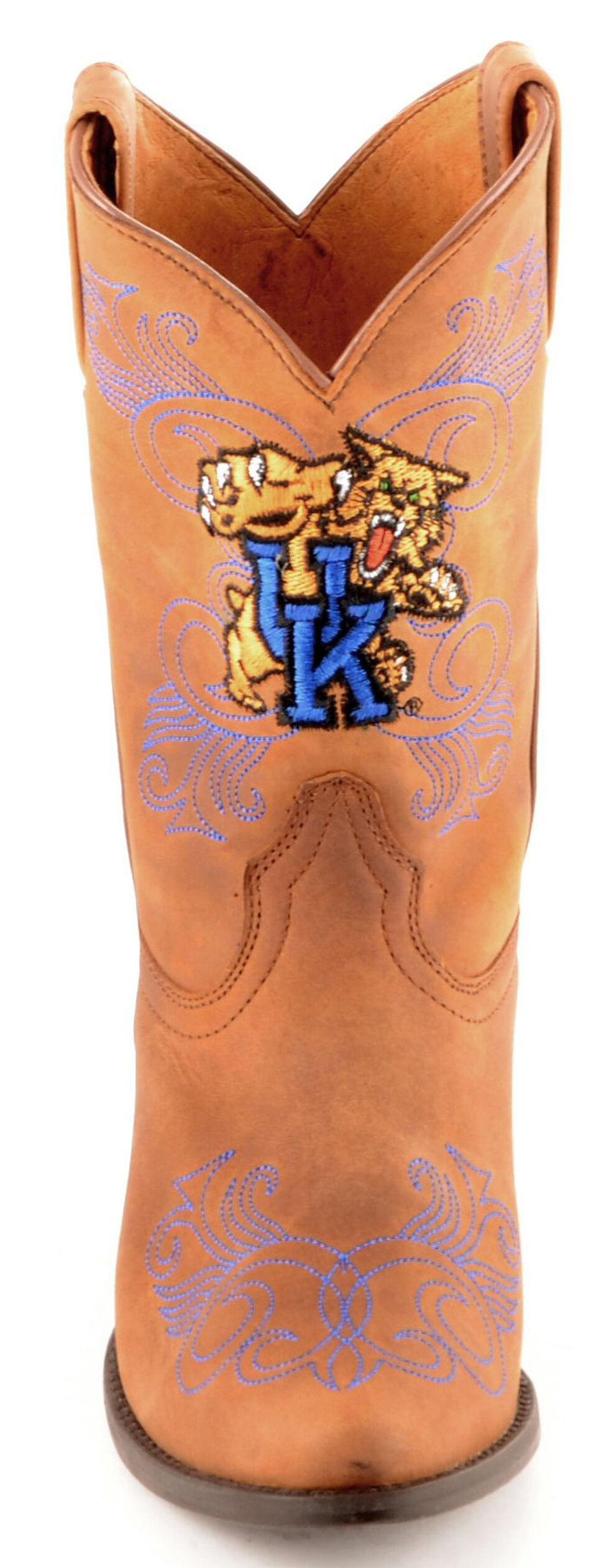 Gameday Boots Girls' University of Kentucky Western Boots - Medium Toe, Honey, hi-res