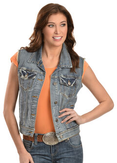 KUT from the Kloth Amelia Denim Vest, Denim, hi-res