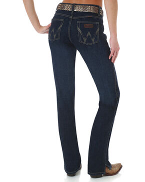 Wrangler Women's Dark Wash Cash Ultimate Riding Jeans, Blue, hi-res