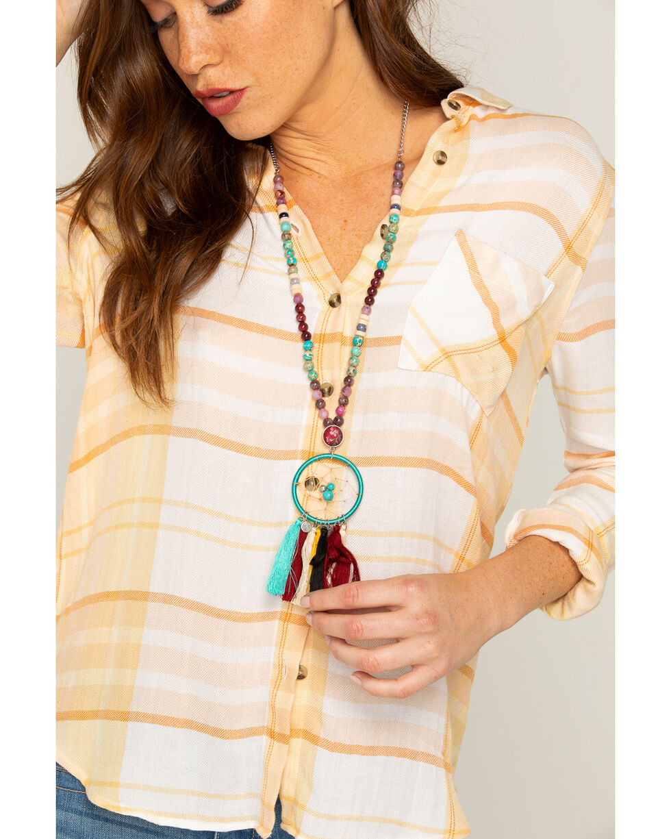 Shyanne Women's Guadalupe Dreamcatcher Necklace, Multi, hi-res