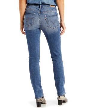 Levi's Women's 711 Blue Mid-Rise Slim Fit Jeans - Skinny, Blue, hi-res