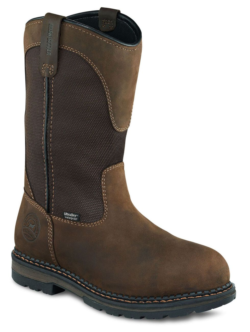 Irish Setter by Red Wing Shoes Men's Ramsey Waterproof Pull-On Work Boots - Safety Toe, Brown, hi-res