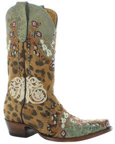 Old Gringo Women's Carrol Western Boots - Snip Toe, Honey, hi-res