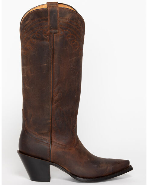 """Shyanne Women's 15"""" Brown Cowgirl Boots - Snip Toe, Brown, hi-res"""