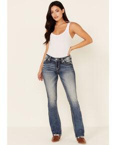 Miss Me Women's Horseshoe Dreamcatcher Bootcut Jeans, Medium Blue, hi-res