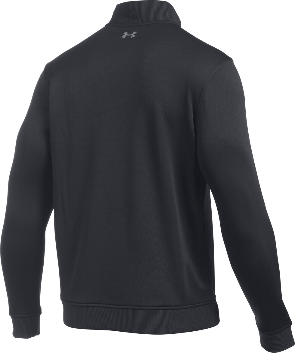 Under Armour Men's Black Storm Sweater Fleece 1/4 Zip Pullover , Black, hi-res
