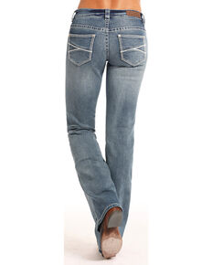 Rock & Roll Cowgirl Women's Extra Stretch Boot Cut Jeans , Indigo, hi-res