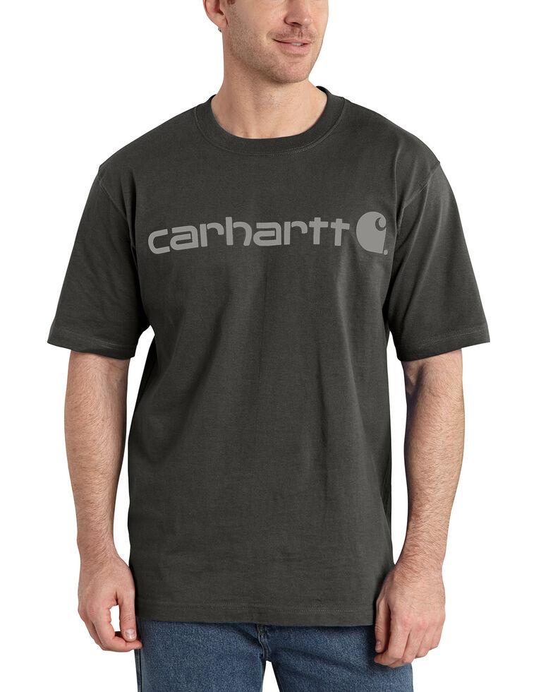 Carhartt Signature Logo Shirt Sleeve Shirt - Big & Tall, Bark, hi-res