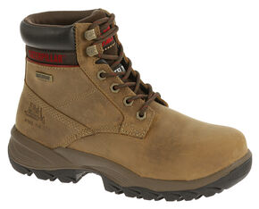 "Caterpillar Women's Dryverse 6"" Waterproof Work Boots - Steel Toe, Beige, hi-res"