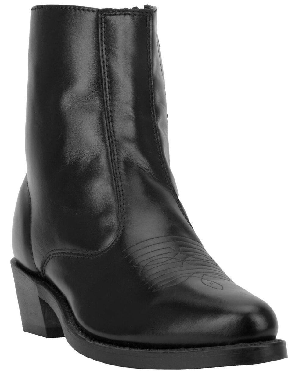 Laredo Long Haul Zipper Western Boots - Round Toe, Black, hi-res