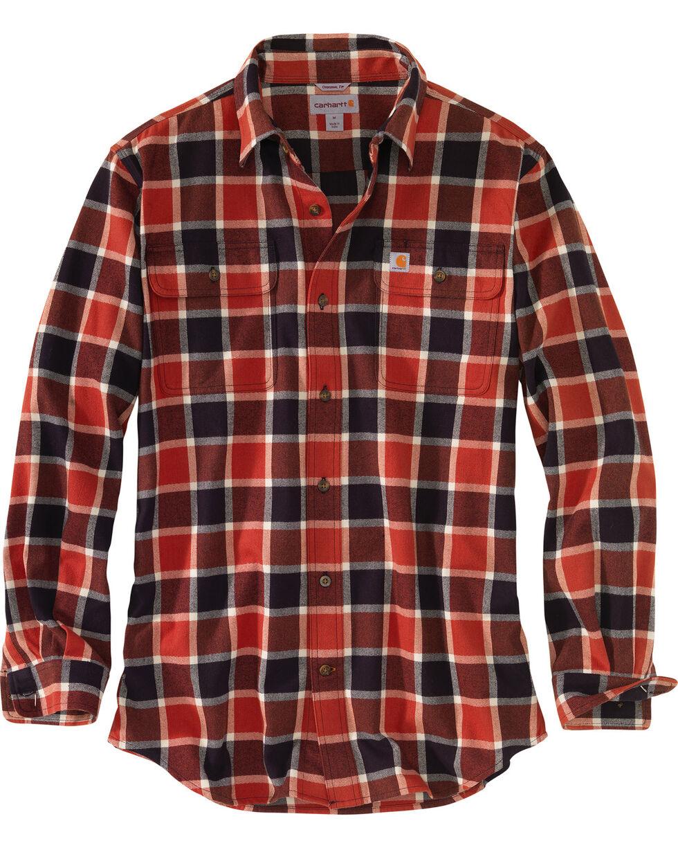 Carhartt Men's Hubbard Plaid Shirt , Chilli, hi-res